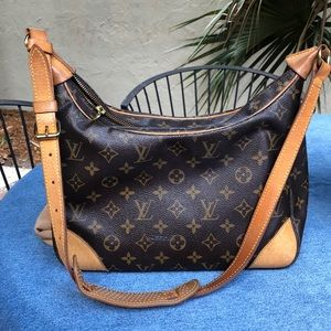 LOUIS VUITTON BOULOGNE GM Brown Monogram Shoulder